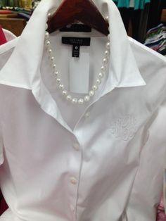 Classic. I love a nice crisp white shirt!