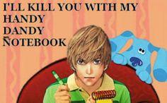 (tags: Death Note, Blue's Clues, Light Yagami) that's so funny 😄 Death Note Funny, L Death Note, Anime Meme, Baka To Test, Danshi Koukousei No Nichijou, Nate River, L Lawliet, Blues Clues, Kaichou Wa Maid Sama