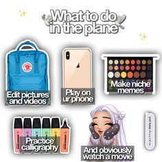Travel Essentials List, School Essentials, Travel List, Holiday Essentials, Road Trip Checklist, Road Trip Packing, Packing List For Vacation, Diy Back To School Supplies, Cute Laptop Stickers