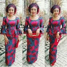Check Out The Most Wanted Peplum Ankara Skirt and Blouse Styles for 2018 Diyanu Fashion African Fashion Ankara, Ghanaian Fashion, Latest African Fashion Dresses, African Dresses For Women, African Print Dresses, African Print Fashion, Africa Fashion, African Attire, African Prints