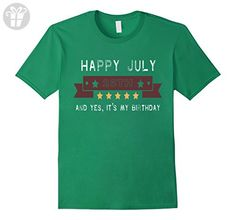 Mens July 25th it's my birthday tshirt 3XL Kelly Green - Birthday shirts (*Amazon Partner-Link)