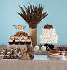 all things blue, brown and cream! another from shauna younge dessert tables