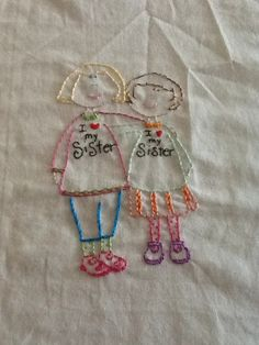 I love my sister by Miss Paula in Stitches, via Flickr