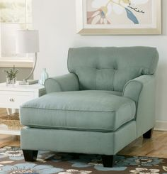 Signature Design by Ashley Kylee Lagoon Blue Fabric Chaise Lounge - Overstock™ Shopping - Great Deals on Signature Design by Ashley Living Room Chairs Oversized Chaise Lounge, Leather Chaise Lounge Chair, Chaise Sofa, Lounge Chairs, Chaise Lounges, Oversized Chair, Comfy Chair, Sofa Beds, Living Room Chairs