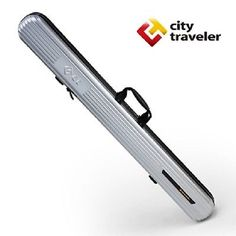 City Traveler Perfect Protection PC+ABS Tackle Box Fishing Rod Carrier Hard Case