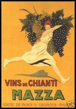 Mazza Vins De Chianti Wine  Vintage Poster Art Print Dancing Lady Fun Decoratio