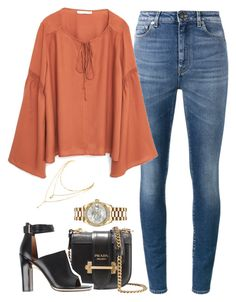 """""""Untitled #1002"""" by khalesse ❤ liked on Polyvore featuring Yves Saint Laurent, MANGO, Prada, Givenchy and Rolex"""