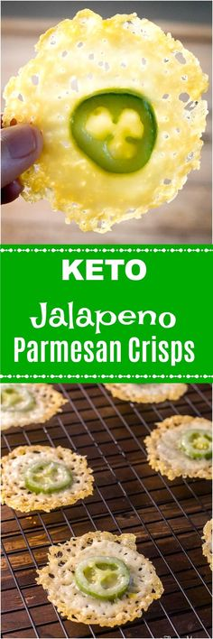 Jalapeno Parmesan Crisps - A Yummy Keto Snack - Flavor Mosaic Yummy Appetizers, Appetizers For Party, Appetizer Recipes, Paleo Recipes, Low Carb Recipes, Cooking Recipes, Keto Snacks, Healthy Snacks, Diet Doctor Recipes