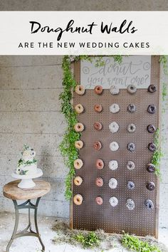 Coming soon to a wedding near you: Doughnut Walls. The dessert trend taking receptions by storm.