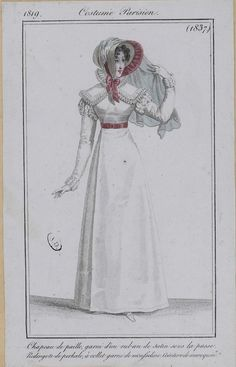 1819. Costume Parisien.   https://flic.kr/p/bV8th1 | M5053MA_214X04X00074_L_34 | French, English, and German fashion plates from 1819. All images come from the collection of the Bibliothèque des Arts Décoratifs. www.lesartsdecoratifs.fr/francais/bibliotheque/  PLEASE ATTRIBUTE THESE IMAGES TO THE BIBLIOTHÈQUE DES ARTS DÉCORATIFS.  At a minimum, please link back to this Flickr set.