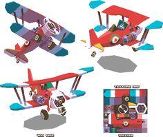 Lowpoly Biplane by KennethFejer.deviantart.com on @deviantART