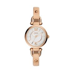Fossil Georgia Mini - Women Wrist Watch on YOOX. The best online selection of Wrist Watches Fossil. Georgia, Stainless Steel Jewelry, Stainless Steel Watch, Bracelet Cuir, Bracelet Watch, Watch Gift Box, Fossil Watches, Women's Watches, Rose Gold