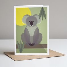 Koala Greeting Card With Kraft Envelope. Eco Friendly by Mimi & Mae, the perfect gift for Explore more unique gifts in our curated marketplace. Plastic Waste, No Plastic, Kraft Envelopes, Mid Century Design, All Sale, Eco Friendly, Unique Gifts, Recycling, Greeting Cards