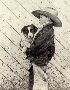 Guardian of the Pup by western portrait artist (C.L.) Carrie Ballantyne