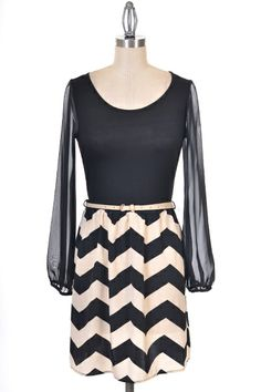 Pin-up Darling - Chevron Lovely Dress, $42.50 (http://www.pinupdarling.com/chevron-lovely-dress/) #dress #black #white #chevron #style #cute #outfit