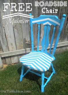 Makeover a chair you find on the side of the road - add a pop of color to your room for FREE