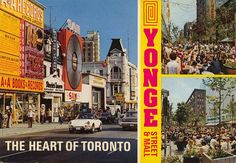 Remember when they used to close Yonge Street and pedestrians ruled? Yonge Street, Street Mall, Toronto Canada, Pedestrian, 1970s, Times Square, Scene, History, City