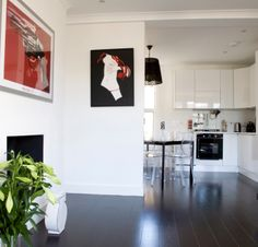 Update of old fashioned flat- a simple palate of colours is used to dramatic effect. http://www.architect-yourhome.com/