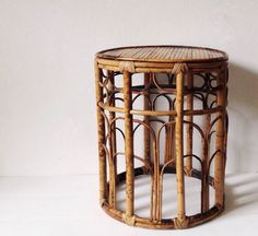Vintage bamboo plant stand by VelvetEra on Etsy