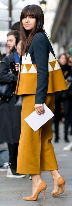 Mira in Delpozo | Fashion Street Style | Paris Fall 2015
