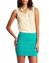 Tops: Charlotte Russe  this top helps to dress up any outfit. It would look really good with coral capris and wedges