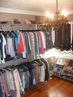 Thanks to the seemingly limitless talents of Mr. PEMS (aka....Mr. Amazing)I can finally see all of my clothes together in one closet!  ...