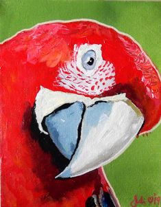 Buy Parrot, Acrylic painting by Julie Hollis on Artfinder. Discover thousands of other original paintings, prints, sculptures and photography from independent artists. Quirky Art, Weird Art, Animal Paintings, Paintings For Sale, Original Artwork, Original Paintings, Resin Wall Art, Bird Artwork, Buy Art Online