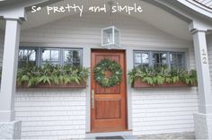 Kristina Crestin Design_Big P holiday decor exterior Holiday Wreaths, Holiday Decorating, Bungalow, Sparkles, Blogging, Exterior, Posts, Holidays, Interior Design