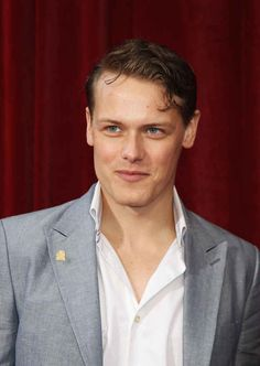 He has killer cheekbones. | 20 Verra Verra Braw Reasons Why Sam Heughan Is The Perfect Jamie Fraser
