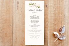 """""""Ribbonly"""" - Rustic, Floral & Botanical Unique Wedding Programs in Blush by Jennifer Wick."""