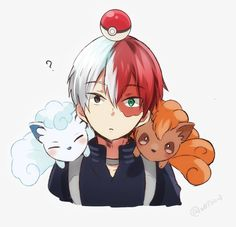 Boku no Hero Academia x Pokemon || Cross-Over [ Todoroki Shouto. ]