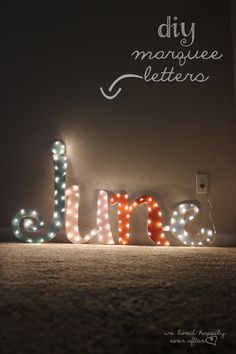 DIY Marquee Lights {and how to make it in your own Custom Font!}