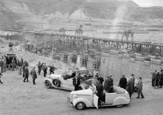 PRESIDENT FRANKLIN D. ROOSEVELT at the GRAND COULEE DAM during his inspection tour of federal projects in the Northwest. -- October 2, 1937