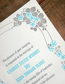 Our Nouveau Flowers invitation design.