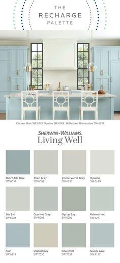 Coastal Paint Colors, Interior Paint Colors, Paint Colors For Home, Cottage Paint Colors, Coastal Color Palettes, Home Design, Interior Design, Room Colors, House Colors