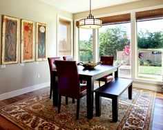 Contemporary Dining Room Lighting Design with Asian influence