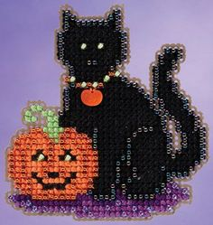 Mill Hill Autumn Harvest Collection  Wendy's Cat by DebiCreations