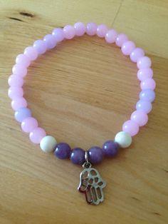 Intention Bracelet Lavender/Purple Hamsa on Etsy, $10.00