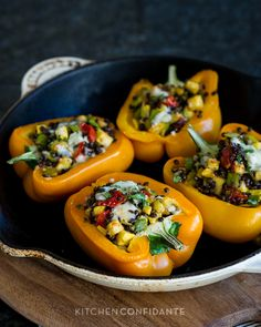 Lentil Stuffed Peppers (to make vegan use a vegan cheese or replace with breadcrumbs, pine nuts or omit) Lentil Recipes, Vegetable Recipes, Vegetarian Recipes, Healthy Recipes, Vegan Vegetarian, Whole Food Recipes, Dinner Recipes, Cooking Recipes, Vegetable Dishes