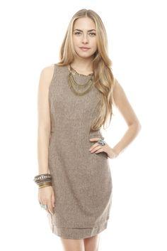 Shoptiques.com — Brown Pocket Dress