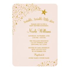 glam faux gold modern baby shower invitations | ideas, babies and, Baby shower invitations