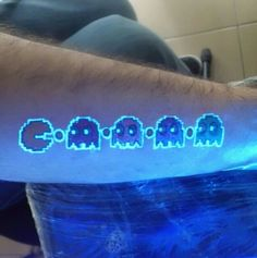 30 glows in the dark  tattoos or black light tattoos .. O.o