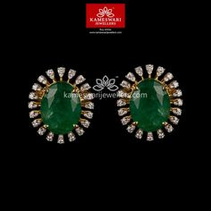 Mesmerizing collection of gold earrings from Kameswari Jewellers. Shop for designer gold earrings, traditional diamond earrings and bridal earrings collections online. Gold Jhumka Earrings, Buy Earrings, Gold Earrings Designs, Bar Stud Earrings, Emerald Earrings, Earrings Online, Necklace Designs, Fancy Earrings, Diamond Necklace Set