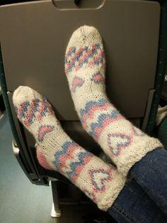 Mun uudet ihanaiset villasukat. Nyt pysyy varpaat lämpimänä!