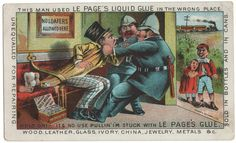 Trade Card Collection 022 - Le Page's Liquid Glue - Front.