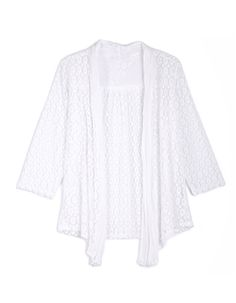 From the classic biker and denim, to more formal, office - suited styles and lighter cardis and covers - you'll find what you're looking for right here! White Lace, Cover Up, Tunic Tops, Suits, Denim, Formal, Sweaters, Jackets, Clothes