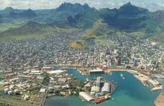 Port Louis, Mauritius  It's in the Indian Ocean near Africa. While it's not on the continent obviously, Mauritius (and Madagascar) are considered a part of the African region, not Oceania.