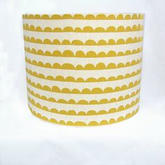 Mustard Yellow and Cream Drum Lampshade/ Ceiling by AShadeBrighter