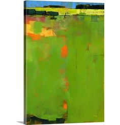 Great Big Canvas 'Green Field' Paul Bailey Painting Print Size: H x W x D, Format: Canvas Contemporary Abstract Art, Contemporary Artists, Painting Prints, Fine Art Prints, Acrylic Paintings, Art Paintings, Green Paintings, Portrait Paintings, Abstract Paintings