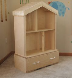 Barbie dollhouse... love the drawers underneath! (Etsy Not available)